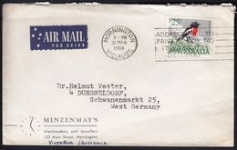 Australia Mornington 1966 / Machine Stamp - Address Mail To Private Box No It Expedites Delivery / Scarlet Robin Bird - Poststempel