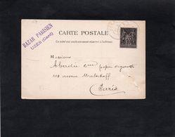 1896 - Cachet UZES (Gard) Sur Type Sage YT 89 - Griffe BAZAR PARISIEN à UZES - Gustave PELADAN - Marcophilie (Lettres)