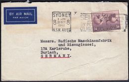 Australia Sydney 1948 / Machine Stamp - Send Money By Postal Note Or Money Order / Air Mail, Globe - Poststempel