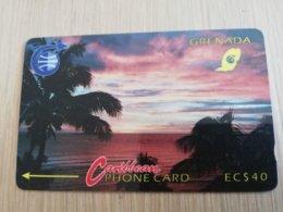 GRENADA  $ 40,- GPT GRE-3B   SUNSET   MAGNETIC    Fine Used Card    **2228 ** - Grenade