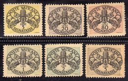 CITTÀ DEL VATICANO VATIKAN VATICAN 1945 TASSE TAXES POSTAGE DUE SEGNATASSE PIO XII SERIE COMPLETA COMPLETE SET  MNH - Postage Due