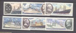 Ru2  -   Russie  :  Yv  4750-55  **  Bateau - Boat - Neufs