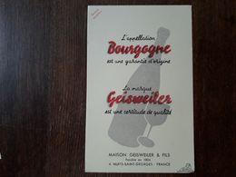L18/178 Buvard. Maison Geisweiler. Nuits Saint Georges. Bourgogne - Blotters