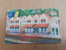 GRENADA  $ 10,- GPT GRE-5A  NEW GRENTEL BUILDING    MAGNETIC    Fine Used Card    **2233 ** - Grenada