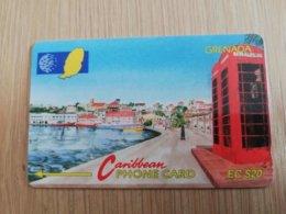 GRENADA  $ 20,- GPT GRE-5A  CARENAGE ST GEORGES     MAGNETIC    Fine Used Card    **2234 ** - Grenada