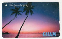 JAPON TELECARTE GUAM Palmier Coucher De Soleil - Guam