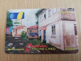 GRENADA  $ 40,- GPT GRE-5C  STREET SCENE GOUVYAVE   MAGNETIC    Fine Used Card    **2235 ** - Grenada