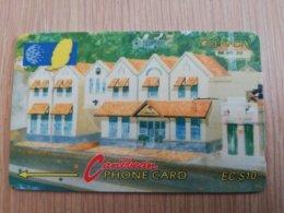 GRENADA  $ 10,- GPT GRE-6A  NEW GRENTEL BUILDING   MAGNETIC    Fine Used Card    **2236 ** - Grenada