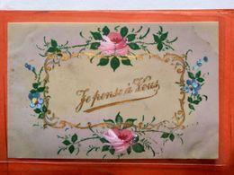 CPA.En Celuloïde .Fleurs. Je Pense à Vous.   (D1.796) - Fancy Cards