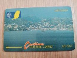 GRENADA  $ 10,- GPT GRE-7A  PORT ST GEORGES      MAGNETIC    Fine Used Card    **2240** - Grenada