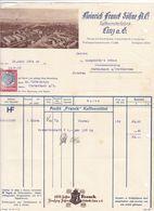 FACTURE DE LA SOCIETE DES CAFES FRANCK   / 19 JUIN 1934 / LINZ AUTRICHE / TIMBRE FISCAL - Autriche
