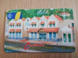 GRENADA  $ 10,- GPT GRE-9A  NEW GRENTEL BUILDING        MAGNETIC    Fine Used Card    **2243** - Grenada