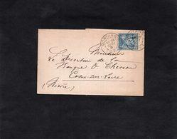 1887 - Cachet MONTARGIS (Loiret) Sur Sage 15c YT 90 - Lettre / Bordereau B.MOUTIER & G. SCHLOSSMACHER - Marcophilie (Lettres)