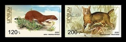 Armenia (Nagorno-Karabakh) 2020 Mih. 222/23 Fauna. Least Weasel And Jungle Cat MNH ** - Arménie