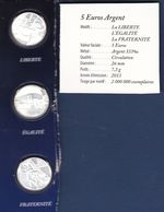 PIECES 5 EUROS ARGENT MOTIFS: LIBERTE, EGALITE, FRATERNITE DAM 26MM ANNEE 2013 - France