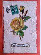 CPA.Gaufrée.Ajoutis Fleurs.Ne M'oubliez Pas.  (D1.824) - Fancy Cards