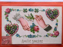 CPA. Gaufrée. Amitié Sincère.  (D1.831) - Fancy Cards