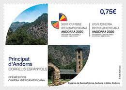 Spanish Andorra 2020 - Anniversaries, Ibero-American Summit Mnh - Neufs