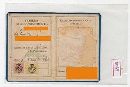 1931 - Tessera Reale Automobil Club D'italia - Erinnofilia - Auto Car - Documenti Storici