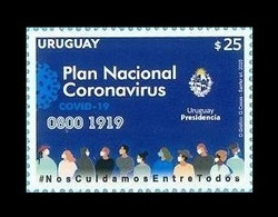 Uruguay 2020 Mih. 3703 Fight Against Coronavirus COVID-19 MNH ** - Uruguay