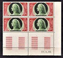 MONACO 1966 -  N° 683 EN BLOC DE 4 TP COIN DE FEUILLE / DATE - NEUFS** - Monaco