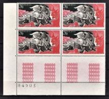 MONACO 1966 -  N° 685 EN BLOC DE 4 TP COIN DE FEUILLE /  - NEUFS** - Monaco