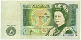 England - 1 Pound - ND ( 1978 - 1980 ) - Pick: 377.a - Sign. J. B. Page - Great Britain, United Kingdom - 1 Pound