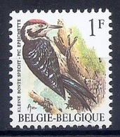 BELGIE * Buzin * Nr 2349 * Postfris Xx * HELDER WIT  PAPIER - GROENE GOM - 1985-.. Pájaros (Buzin)