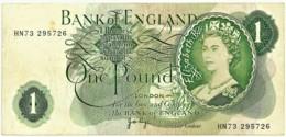 England - 1 Pound - ND ( 1970 - 1977 ) - Pick: 374.g - Sign. J. B. Page - Serie HN73 - Great Britain, United Kingdom - 1 Pound