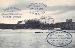 FINISTERE  29  MORGAT - GRAND HOTEL DE LA PLAGE - PUBLICITE - Morgat