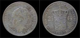 Netherlands Wilhelmina I 2 1/2 Gulden(rijksdaalder)1930 - 2 1/2 Gulden