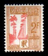 Guadeloupe J36, Postage Due,  2F, 1928, Unused, Never Hinged. OG,  F-VF - Nuevos