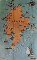 Massachusetts Cape Ann Map 1954 - United States