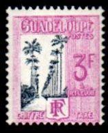 Guadeloupe J37, Postage Due,  3F, 1928, Unused, Never Hinged. OG,  F - Nuevos