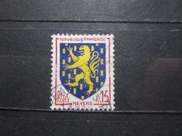 VEND BEAU TIMBRE DE FRANCE N° 1354 , LANGUE BLANCHE !!! - Variétés: 1960-69 Oblitérés