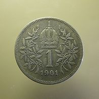 Austria 1 Corona 1901 Silver - Austria