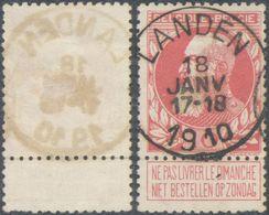 "Grosse Barbe - N°74 Obl Simple Cercle (concours) ""Landen"" - 1905 Grosse Barbe"