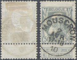 "Grosse Barbe - N°78 Obl Simple Cercle ""Mouscron"" - 1905 Barbas Largas"