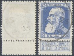 "Grosse Barbe - N°76 Obl Agence ""Brussel / Bruxelles 25"" / COBA : 15 - 1905 Grosse Barbe"