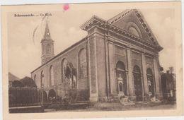 Dendermonde - Deelgemeente Schoonaarde - De Kerk ( Gelopen Kaart Met Zegels) Uitg.: Abbeel - Dendermonde