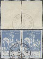 """Caritas Modifié - N°239 En Paire Obl Anormale Agence """"Verviers 12"""" (1926). - Usados"""