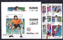 Soccer World Cup 1994 - Football - SUDAN - 2 S/S+Set 9v MNH - Coupe Du Monde