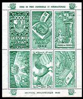 FOIRE DE PARIS 1942 - Section Philatélique - Blocks & Sheetlets & Booklets