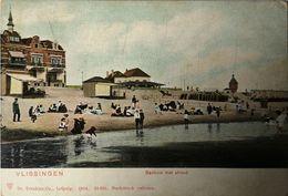 Vlissingen (Zld) Badhuis Met Strand Ca 1900 - Vlissingen