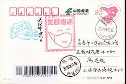 CHINA CHINE CINA POSTCARD SHANGHAI TO JILIN CHANGCHUN  WITH ANTI COVID-19 INFORMATION - China