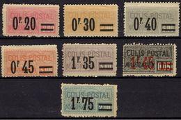 FRNCE Colis Postaux 34 à 37 Et 39 à 41 (*) Type Majoration Surchargé Sans Gomme (CV 22 CV) - Parcel Post