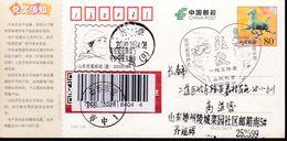 CHINA CHINE CINA POSTCARD SHANDONG DAZHOU  TO JILIN CHANGCHUN  WITH ANTI COVID-19 INFORMATION - China