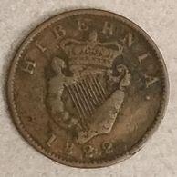 IRLANDE - IRELAND - 1/2 PENNY 1822 - George IV - KM 150 - IRELAND - Irland