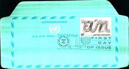 15530) ONU -NY-AEREOGRAMMA FDC DA 22C. 27-6-1977 - New-York - Siège De L'ONU