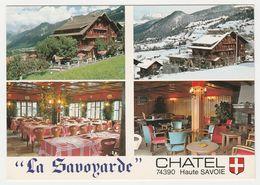 74 Châtel La Savoyarde Hôtel Restaurant à 200m Du Centre Terrasse Parking En 4 Vues De 1980 - Châtel
